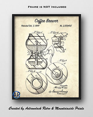 Coffee Brewer Patent Art Print 1  -  Vintage Patent Drawing