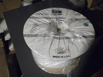 """NEW 100' Spool 1/2"""" (12mm) Spiral Wrap Tubing; Alpha Wire; Natural Polyethylene"""