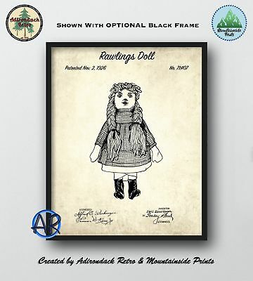 Rawlings Doll Patent Art Print  -  Vintage 1926 Doll Poster Art