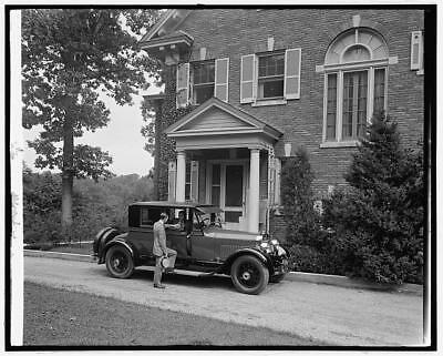 Ford Motor Company Lincoln at private residence,Automobile,Transportation,c1920