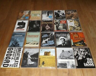 Criterion Collection blu-ray lot of 20 - BREATHLESS Umberto D the 400 BLOWS M