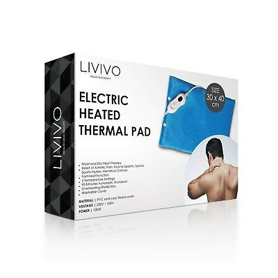 Livivo  Electric Cosy Heated Pad Thermal Back Neck Body Mat Pain Relief Therapy