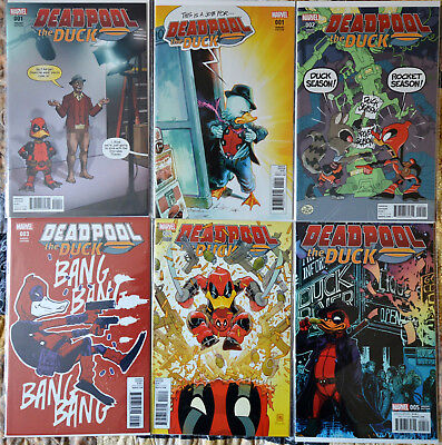 DEADPOOL THE DUCK - 1:25 Variant Cover Complete Set + #1 1:50 Variant  NM Unread