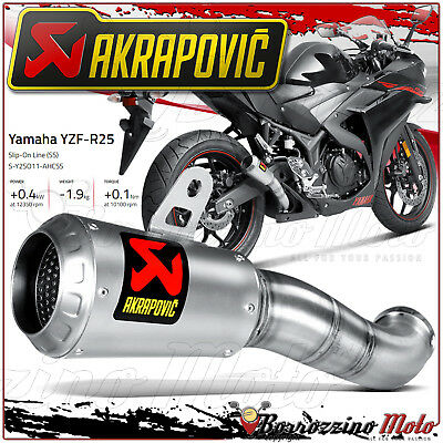 Akrapovic S-Y2So11-Ahcss Slip-On Auspuff Inox Racing Yamaha Yzf R25 Jahr