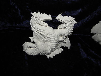Ceramic Bisque Ready to Paint  2 Small Dragons twisted around each other