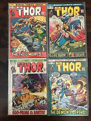 Marvel Comics THOR 200 201 202 204 Anniversary Special Vintage Set Of 4 1972