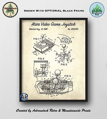 Atari Video Game Joystick Patent Art Print  -  Retro Video Game Poster
