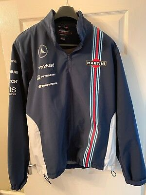 Mens Williams Martini Racing F1 Formula 1 Soft Shell Jacket Size Xl
