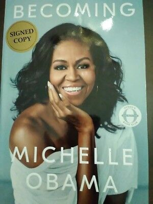 Becoming By Michelle Obama Signed Autographed Book ~~New