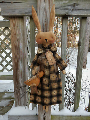 FoLk Art PrimiTive sPriNg EasTer Bunny RABBIT CounTry Chick DOLL DecoraTion TaGs