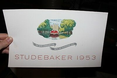 1953 Studebaker Champion Commander Sales Brochure Dealer Advertising Vintage