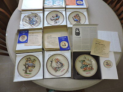 6 Hummel Goebel Annual Collector's Plates 1972 1973 1976-1979 West Germany