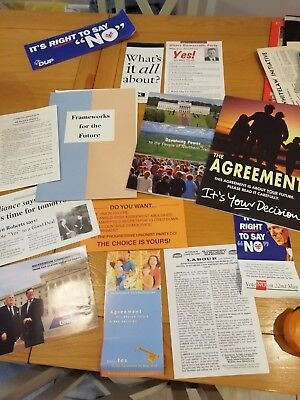 Good friday agreement referendum papers from Northern Ireland