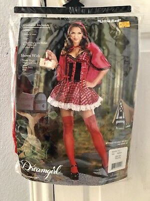 Dreamgirl Little Red Riding Hood Fantasy Women's Adult Halloween Costume 7621