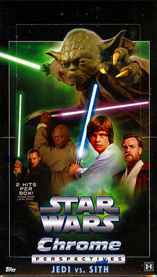 2015 Topps Star Wars Chrome Perspectives: Jedi Vs Sith Hobby Box Factory Sealed