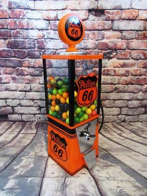 vintage gumball  candy/ nuts machine restored and themed Phillips 66 gas