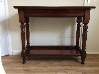 Mahogany Side/Serving Table. Late Victorian Antique/ Medium Size/ Shelf Under.
