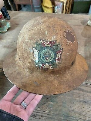 WWI U.S. Helmet VFW Doughboy Metal US Government Stamped Inside