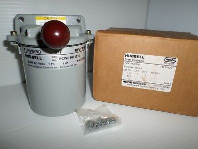 **NEW IN BOX** HUBBELL WCWR109253U REVERSING DRUM SWITCH CONTROLLER 14429 1-Ph