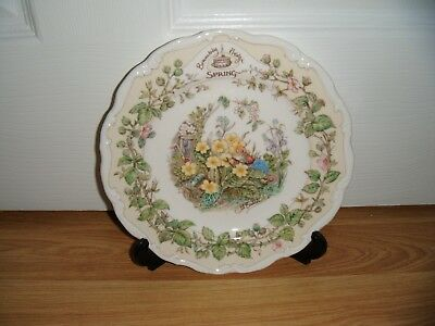 """ROYAL DOULTON BRAMBLY HEDGE 8"""" WALL PLATE SPRING 4 SEASONS 1st QUALITY EXCELLENT"""