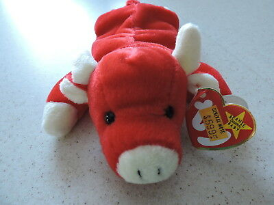 Ty Beanie Baby Snort The Red Bull Rare With Errors Retired Very Good  Condition 78c506dd4f1