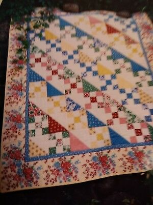 Quilt kit Pieced spring bright colors 44 x 52 inches easy beginnerpattern