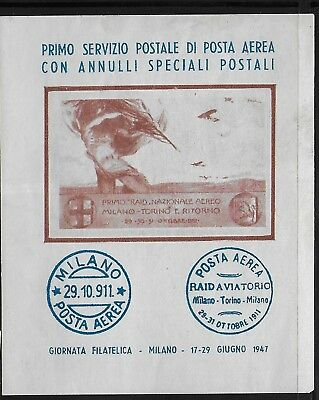 Cinderella  Italy  1947  - Poster   Stamps  Aviation    MNH-VF#  lot  254  4