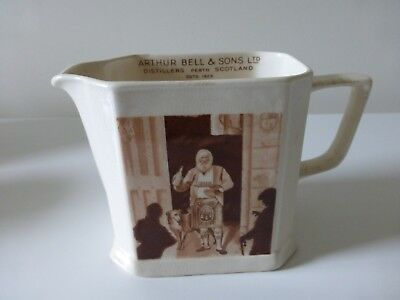 Antique Arthur Bell & Sons Scotch Whisky Jug - Causton Solian Ware