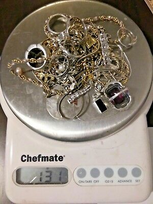 Huge Sterling Silver 131 Grams Scrap Wear Repair Wholesale Lot 1 Day Only