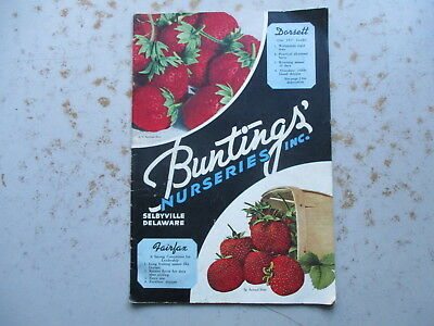 Bunting's Nurseries Inc. SEEDS Catalog for 1937 - Selbyville, Delaware