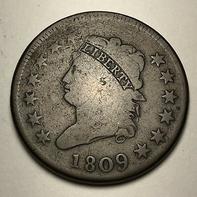 1809 Classic Head Large Cent - RARE DATE - VF!