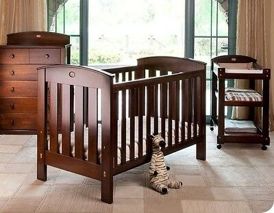 Boori Country Collection Classic Cot /Toddler Bed in Walnut Colour.