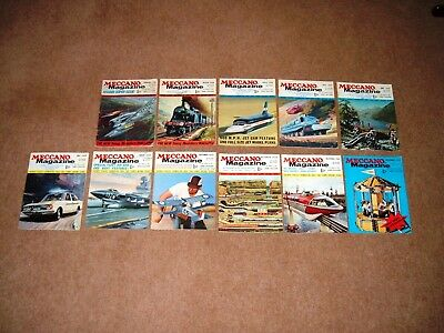 COLLECTION 62 x VINTAGE ENGLISH MECCANO MAGAZINES 1968 1969 1970 1971 1972 1973