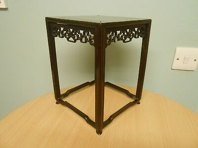 ANTIQUE 19THC CHINESE ROSEWOOD DISPLAY STAND c1860 a/f