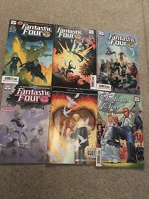 fantastic four 1, 2, 3, 4, 5 and wedding special 2018 marvel comics 650th Issue