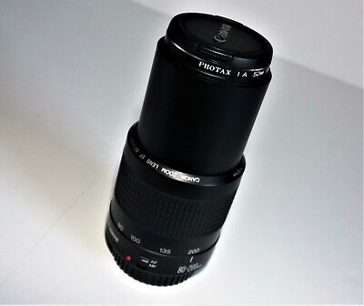 Canon Zoom Lens EF 80-200mm 1:4.5-5.6 II with Photax 1A 52mm Filter