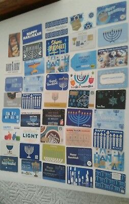 Lot of 44 Different  Hanukkah Gift Cards, INTERESTING Collectible Mint Beautiful