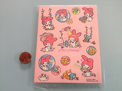 1987 Vintage MY MELODY artbloom STICKERS sheet UNOPENED new RARE Sanrio