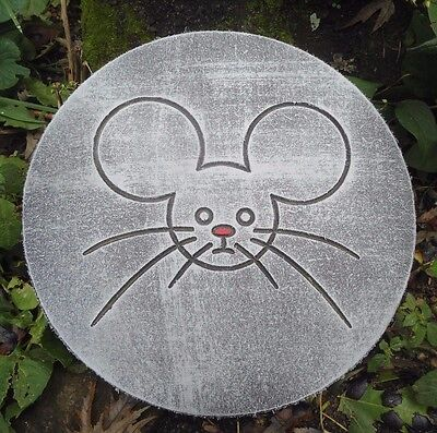 Leaves Acorns and Mice Stepping Stone Concrete Mold 1163 Moldcreations