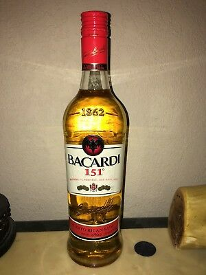 Unopened Rare Bacardi 151 Rum 750ml 100% authentic never tampered