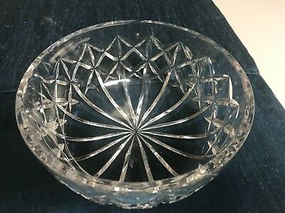 """STUNNING VINTAGE 8"""" Waterford CUT CRYSTAL CENTERPIECE BOWL All Purpose EXCELLENT"""