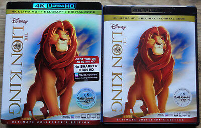 The Lion King 4k Ultra HD and Blu Ray with Slipcover (no digital code) disney