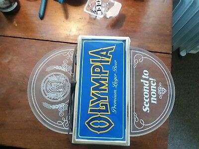 1984 Olympia Beer Lighted Plastic Sign - Milwaukee, WI