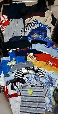 Huge Bundle Of Boys Clothes 7-8years #621 ZARA GEORGE NEXT F&F HUGO BOSS TOY STO