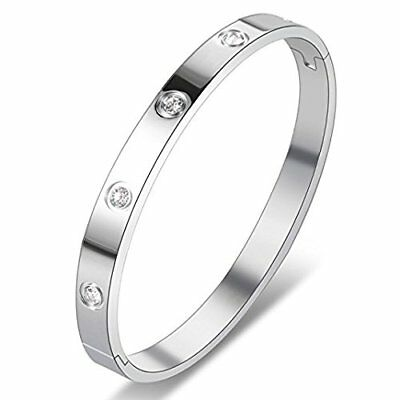 High Quality Stainless Steel Hinged Love Bangle Bracelet