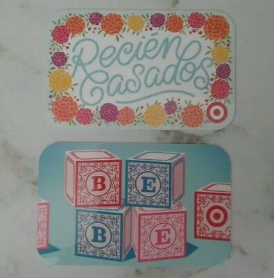 2 Target Gift Cards, Baby Blocks, Recien Casados, Collectible, Mint