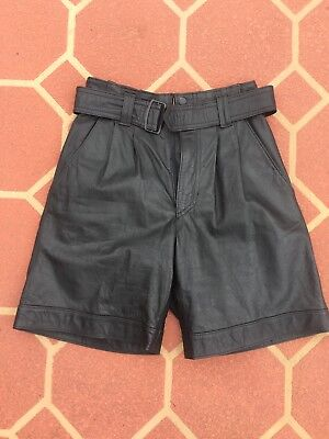 Gorgeous Vintage Leather 80's High Waisted Festival Shorts