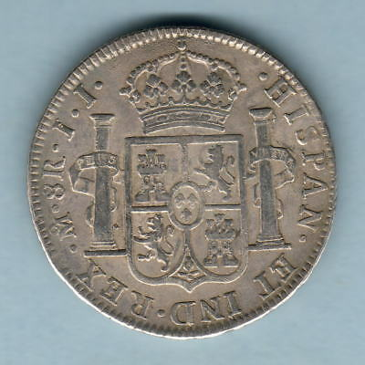 Mexico. 1819-JJ 8 Reales..  gVF/aEF - Trace Lustre