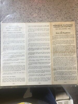 Muskingum Watershed Conservancy District New Philadelphia Rules Regulations 1954