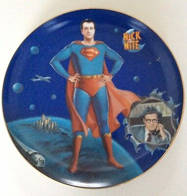NIB NEW! Superman Collector Plate by Nick At Night MTV 1991 George Reeves